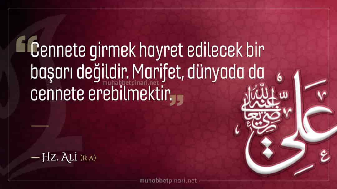 Hz. Ali'den Hikmetli Sözler
