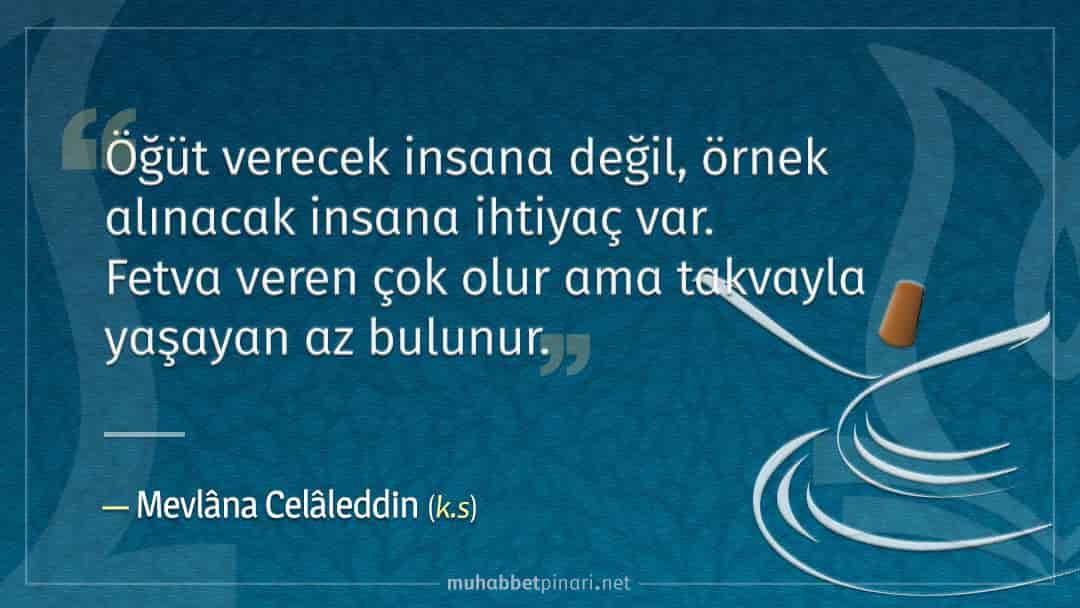 Mevlâna Celâleddin-i Rûmî Hazretlerinin Hikmetli Sözleri