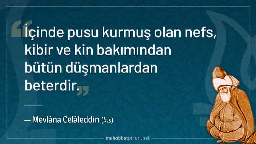Mevlânâ Celâleddin Hazretlerinin Nefs ile İlgili Hikmetli Sözleri